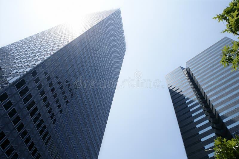 Opinión urbana de los bulidings de la ciudad céntrica de Dallas imagen de archivo libre de regalías