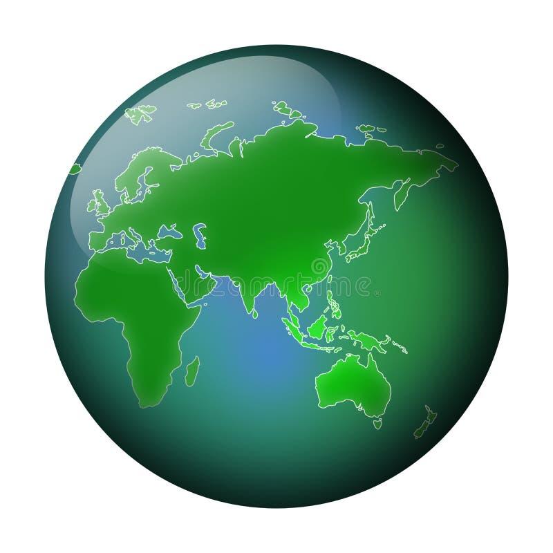 Opinión verde del globo libre illustration