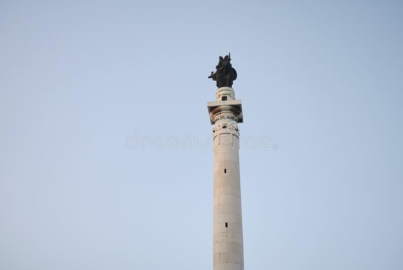 Opinión Victory Monument fotografía de archivo libre de regalías