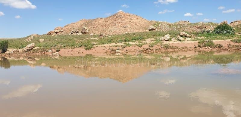 Opinión Wadi Darnah en morroco imagen de archivo libre de regalías
