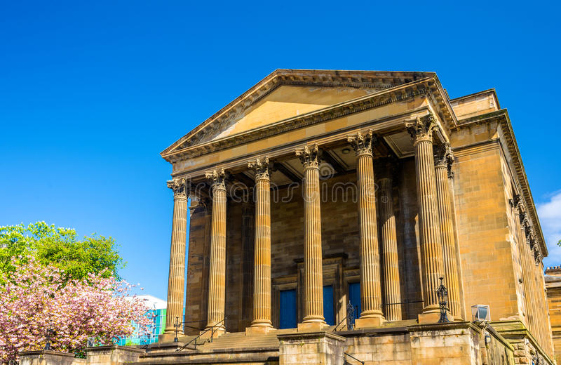 Opinión Wellington Church en Glasgow fotos de archivo libres de regalías