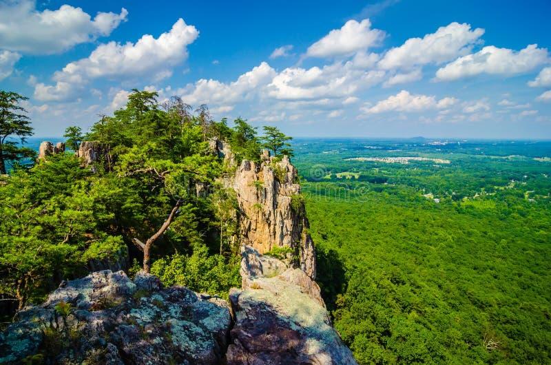 Opiniões aéreas bonitas da paisagem da montanha Ca norte dos crowders fotos de stock royalty free