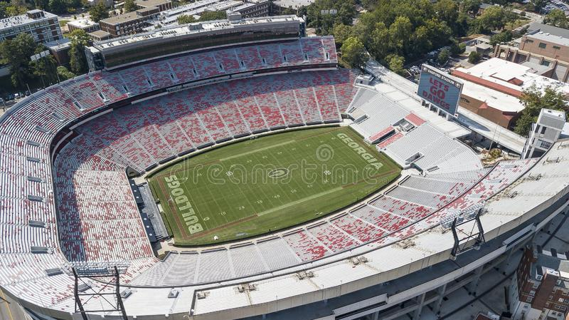 Opiniões aéreas Sanford Stadium foto de stock