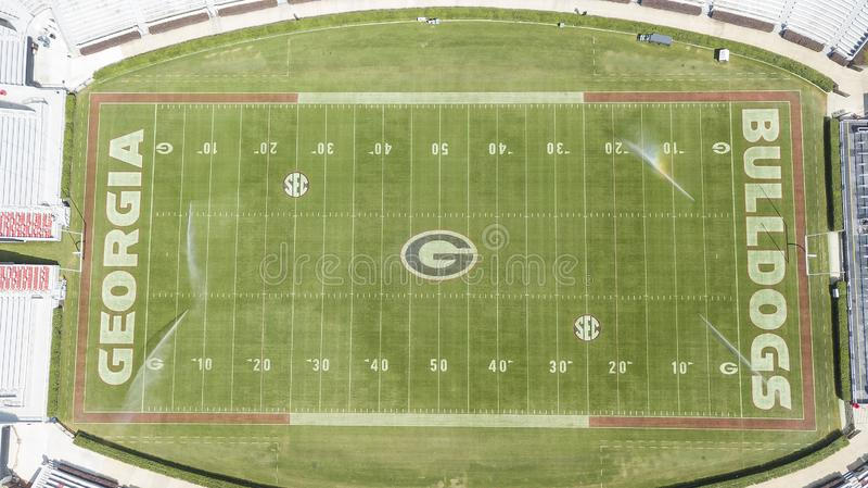 Opiniões aéreas Sanford Stadium fotos de stock