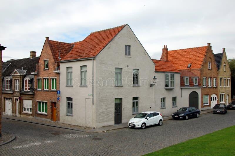 Opiniões da cidade de Bruges foto de stock