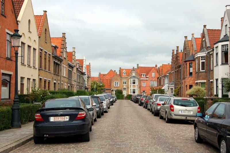 Opiniões da cidade de Bruges fotografia de stock