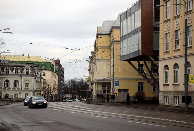Opiniões da cidade de Tallinn foto de stock