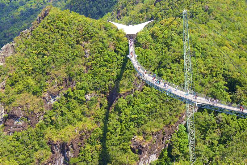 Opiniões da ponte e do Langkawi do céu, Malásia imagens de stock royalty free