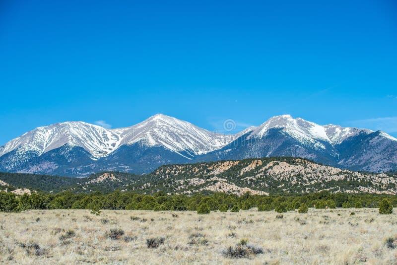 Opiniões da vista das montanhas rochosas de Colorado fotos de stock royalty free