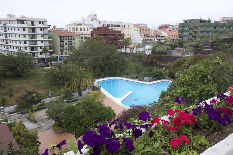 Opiniões de Puerto de la Cruz, Tenerife imagens de stock