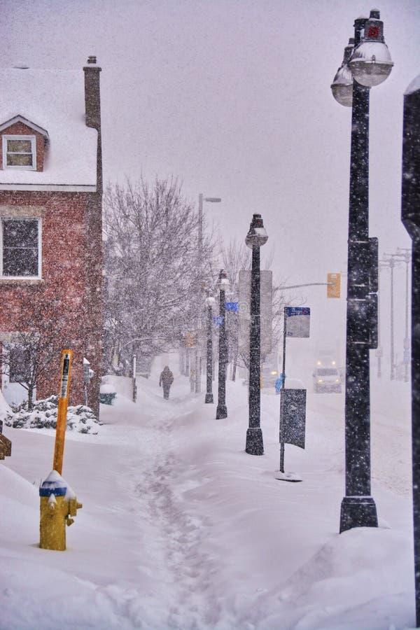 Opiniões do inverno de Canadá fotografia de stock