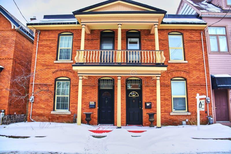 Opiniões do inverno de Canadá fotografia de stock royalty free