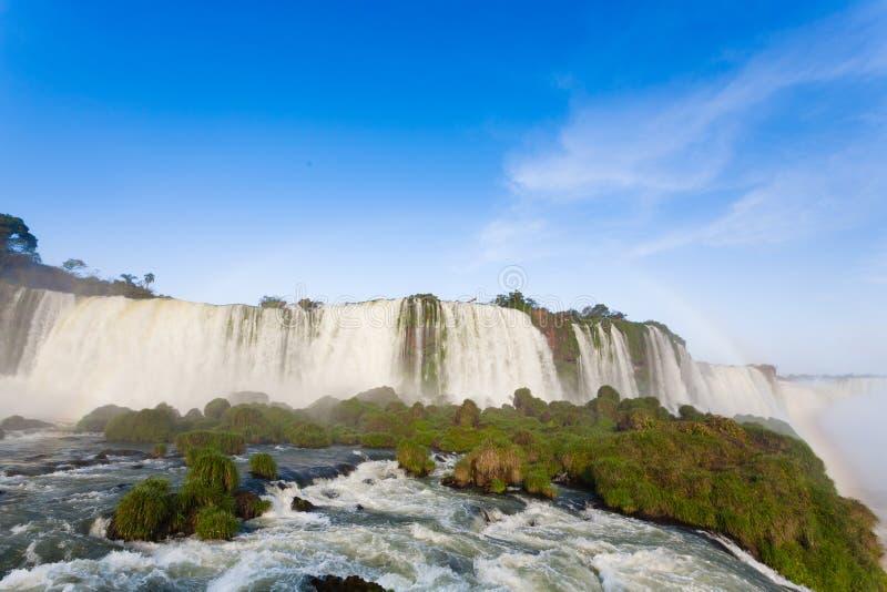 Opini?n de las cataratas del Iguaz?, la Argentina foto de archivo libre de regalías