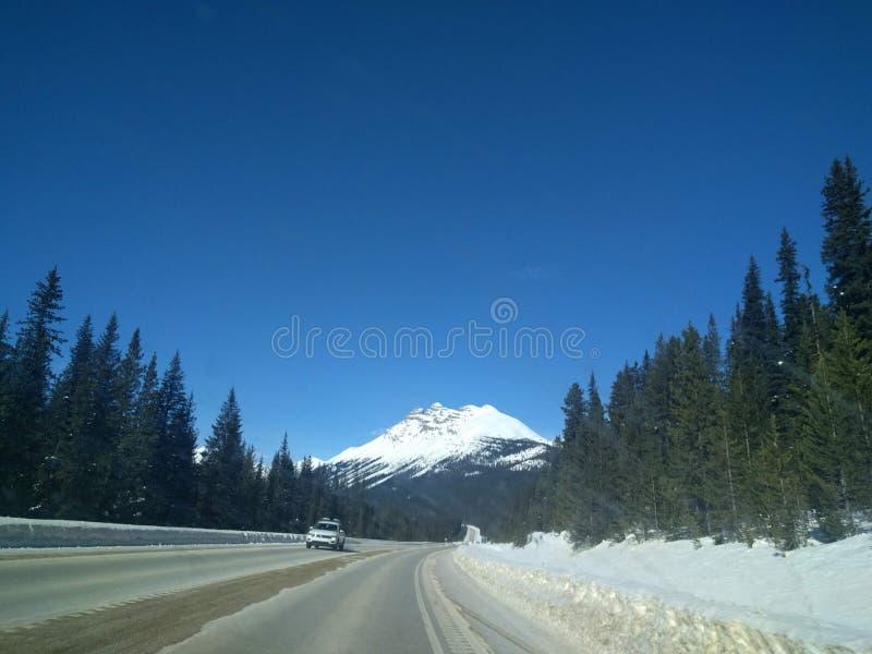 Opini?n del camino en Calgary, Alberta imágenes de archivo libres de regalías