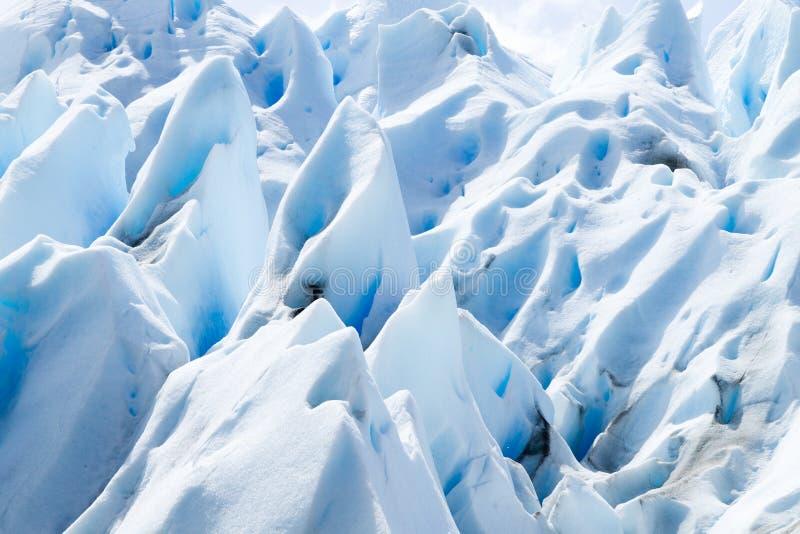 Opini?n del detalle de las formaciones de hielo del glaciar de Perito Moreno fotos de archivo