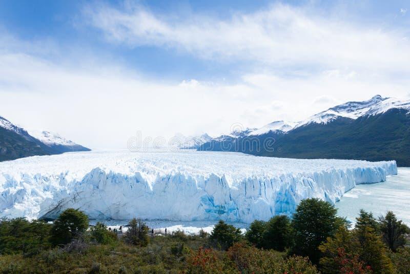 Opini?n del glaciar de Perito Moreno, paisaje de la Patagonia, la Argentina foto de archivo
