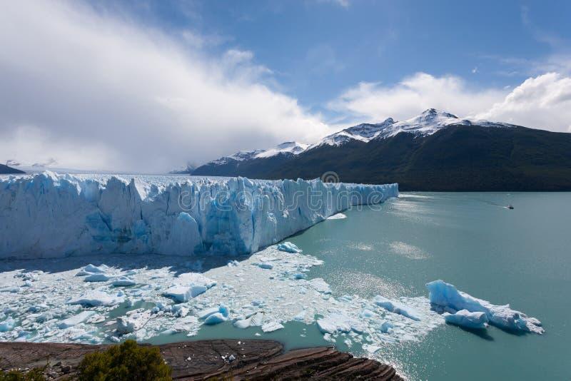 Opini?n del glaciar de Perito Moreno, paisaje de la Patagonia, la Argentina imagenes de archivo