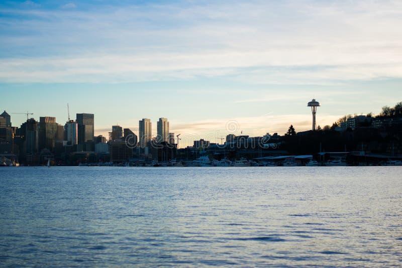 Opini?n del horizonte de Seattle fotos de archivo