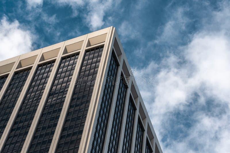 Opini?n del primer de rascacielos modernos en el Lower Manhattan financiero New York City del distrito imágenes de archivo libres de regalías