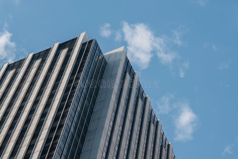 Opini?n del primer de rascacielos modernos en el Lower Manhattan financiero New York City del distrito fotos de archivo