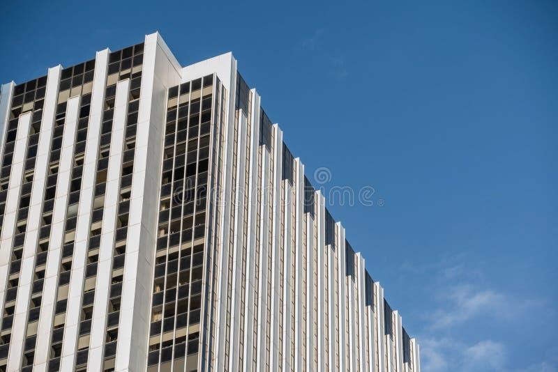 Opini?n del primer de rascacielos modernos en el Lower Manhattan financiero New York City del distrito imagen de archivo