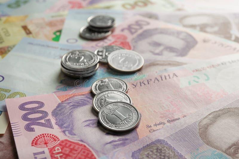 Opini?n del primer del dinero ucraniano naturalizado imagen de archivo