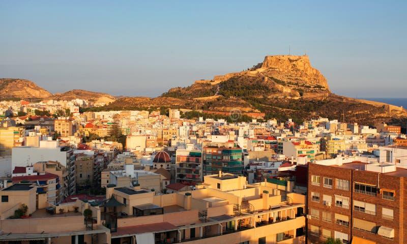 Opini?n Serra Grossa o San Julian Mountain en Alicante - Espa?a fotografía de archivo libre de regalías