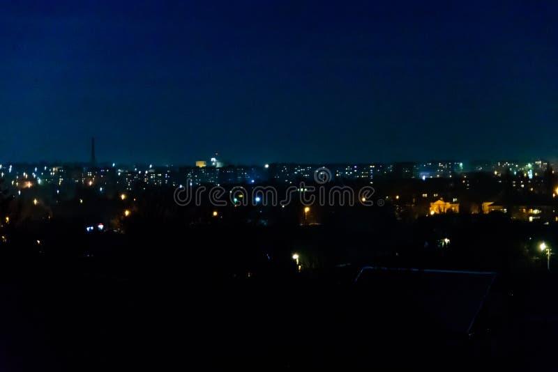 Opini?n sobre la ciudad de medianoche Alexandr?a, Ucrania foto de archivo libre de regalías