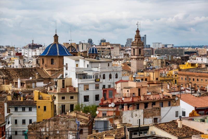 Opini?n sobre los cuadrados, edificios, calles de Valencia en Espa?a imágenes de archivo libres de regalías