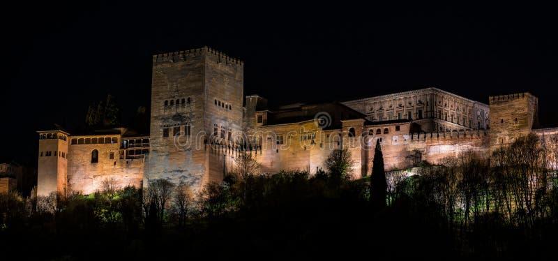 Opini?o Alhambra Palace em Granada, Espanha em Europa imagens de stock