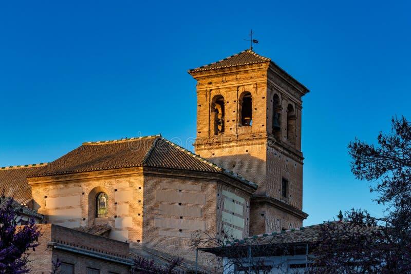 Opini?o Alhambra Palace em Granada, Espanha em Europa foto de stock