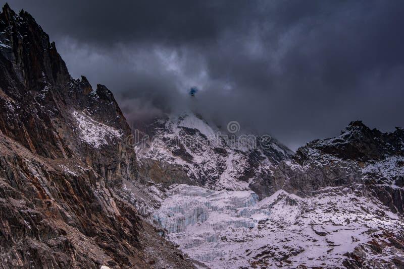 Opini?o da paisagem de Cho La Pass fotografia de stock royalty free