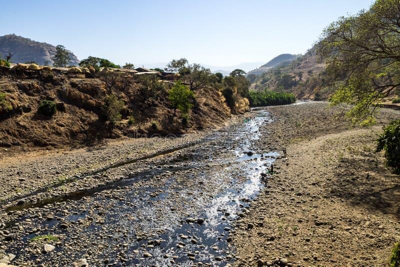 Opini?o da paisagem do parque nacional das montanhas de Simien em Eti?pia do norte fotos de stock royalty free