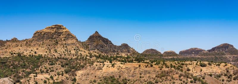 Opini?o da paisagem do parque nacional das montanhas de Simien em Eti?pia do norte foto de stock royalty free