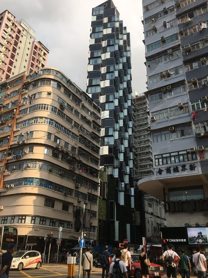 Opini?o da rua de Hong Kong fotografia de stock royalty free
