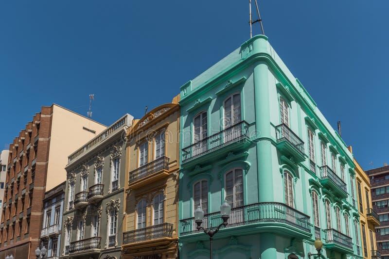 Opini?o da rua Vista da fachada da construção, Las Palmas de Gran Canaria, Espanha imagens de stock