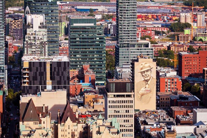 Opini?o da skyline da cidade de Montreal da montagem real em uma tarde ensolarada do ver?o em Quebeque, Canad? fotos de stock