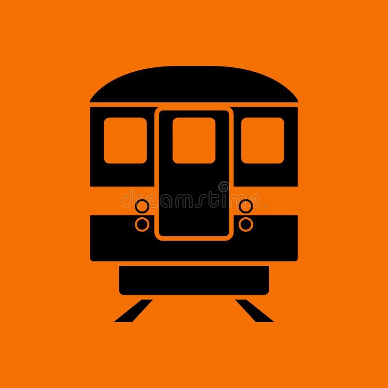 Opini?o dianteira do ?cone do metro ilustração royalty free
