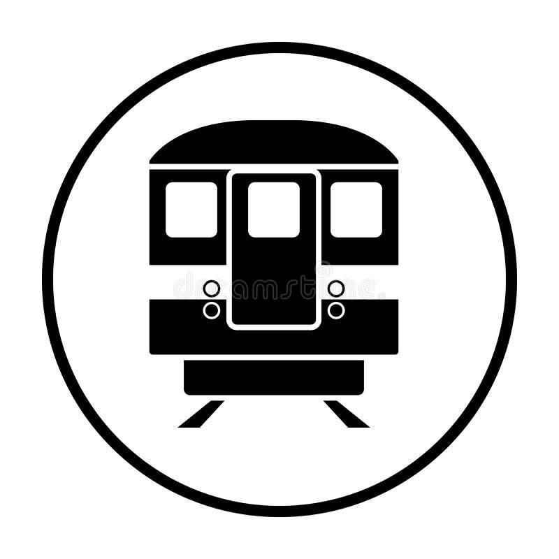 Opini?o dianteira do ?cone do metro ilustração stock