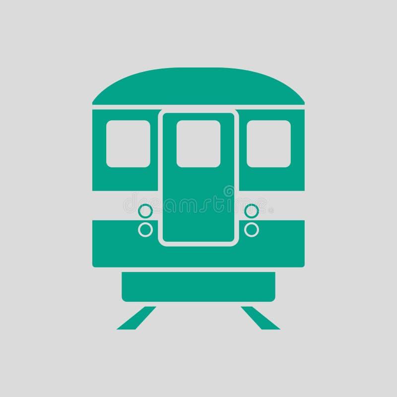 Opini?o dianteira do ?cone do metro ilustração do vetor
