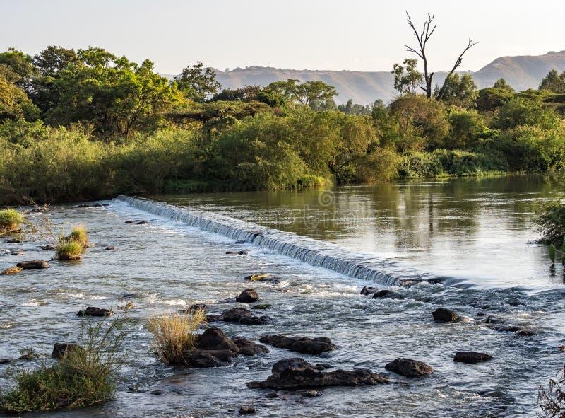 Opini?o perto das quedas azuis do Nilo, Tis-Isat da paisagem em Eti?pia, ?frica imagens de stock