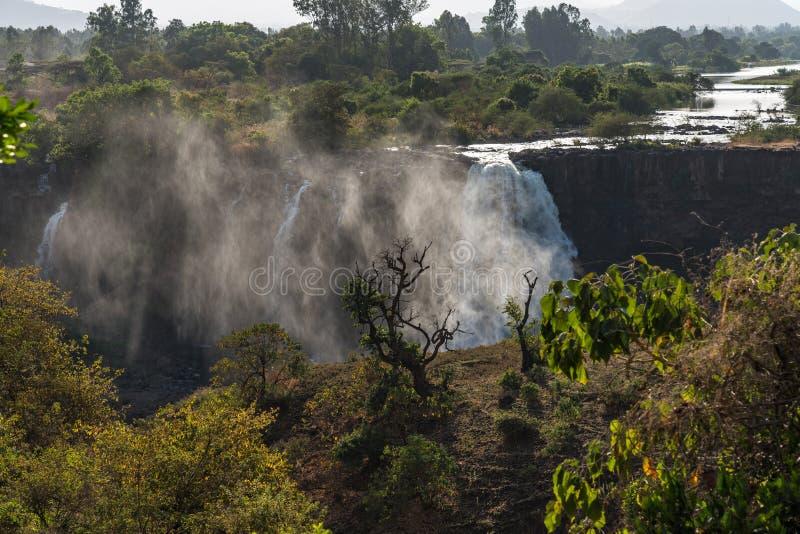 Opini?o perto das quedas azuis do Nilo, Tis-Isat da paisagem em Eti?pia, ?frica fotografia de stock royalty free