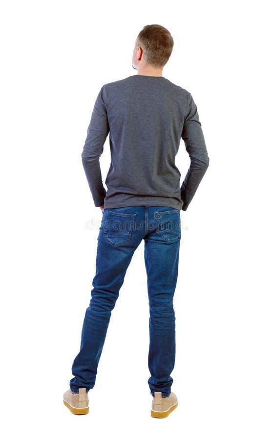Opini?o traseira um homem ? moda fotos de stock royalty free