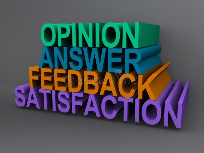 Opinii i informacje zwrotne znak ilustracja wektor