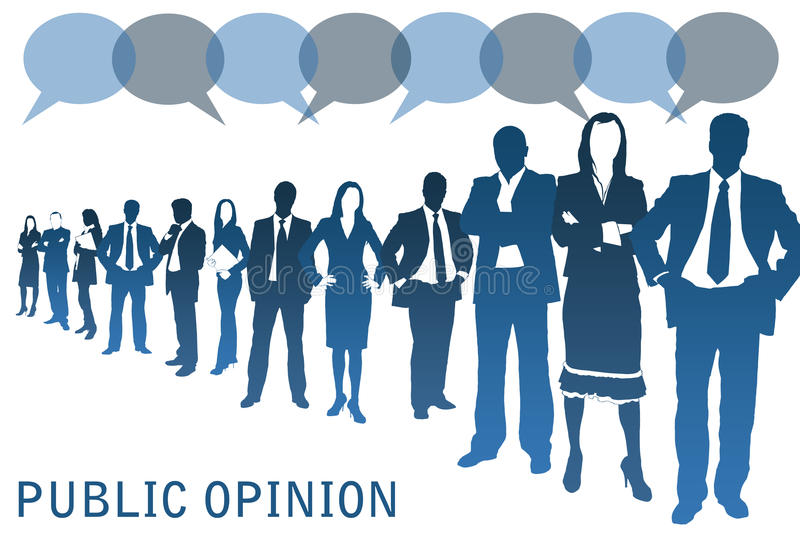 Opinion publique illustration libre de droits