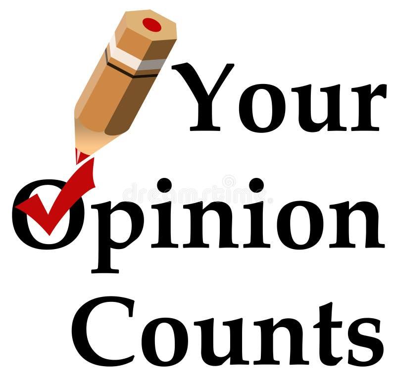 Opinion stock illustration