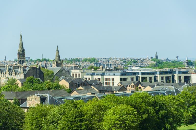 Opiniones aéreas de Edimburgo imagen de archivo libre de regalías