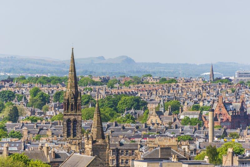 Opiniones aéreas de Edimburgo foto de archivo