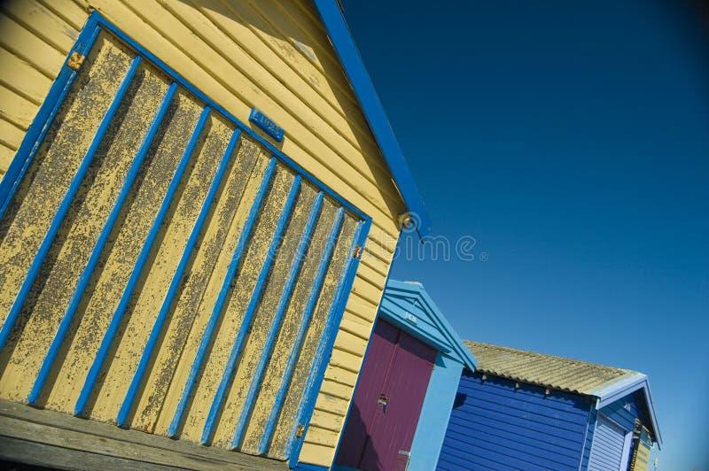 Opiniones de la choza de la playa foto de archivo libre de regalías