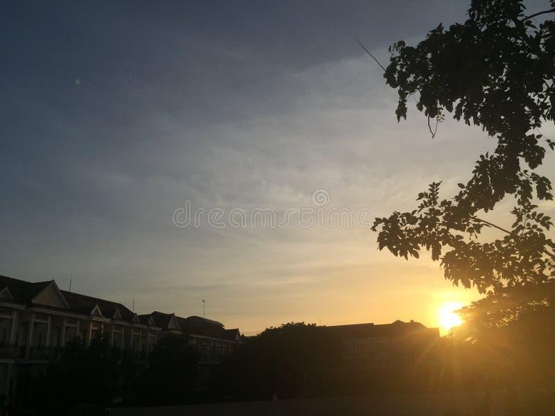 opiniones de la puesta del sol fotos de archivo libres de regalías